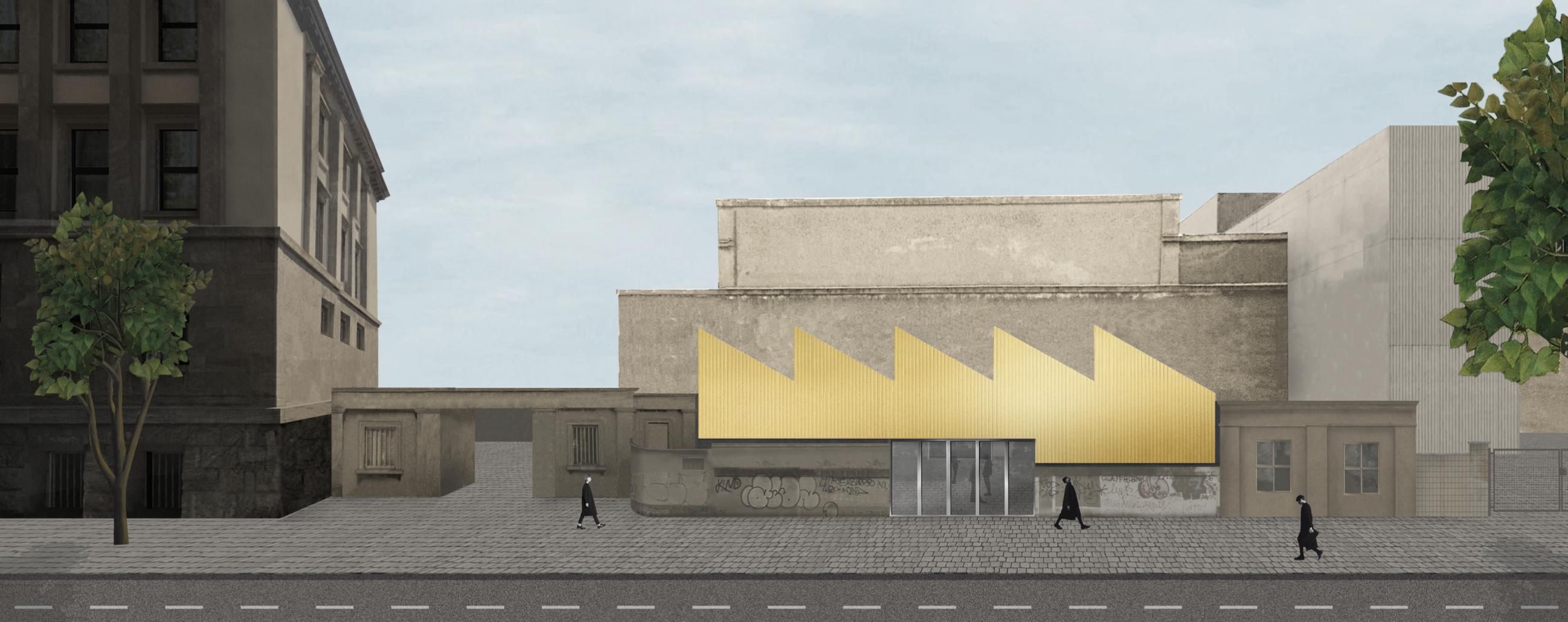 Rheinstahlhalle Visualisierung Vorbau Tanja Lincke Architekten