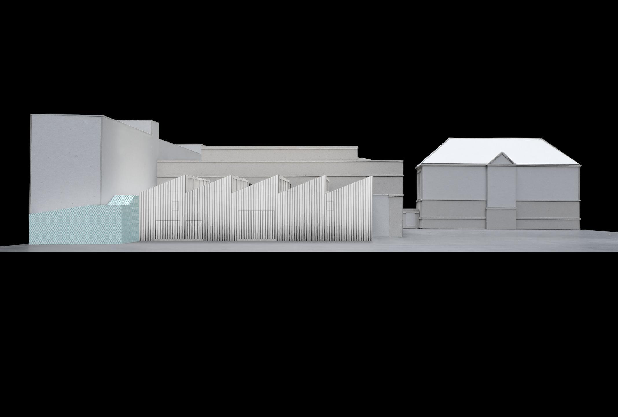 Rheinstahlhalle Modellfoto Rückbau Tanja Lincke Architekten