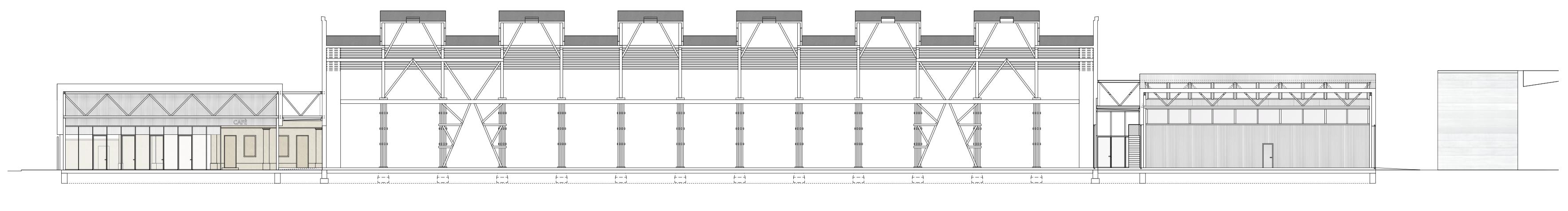 Rheinstahlhalle Schnitt Tanja Lincke Architekten
