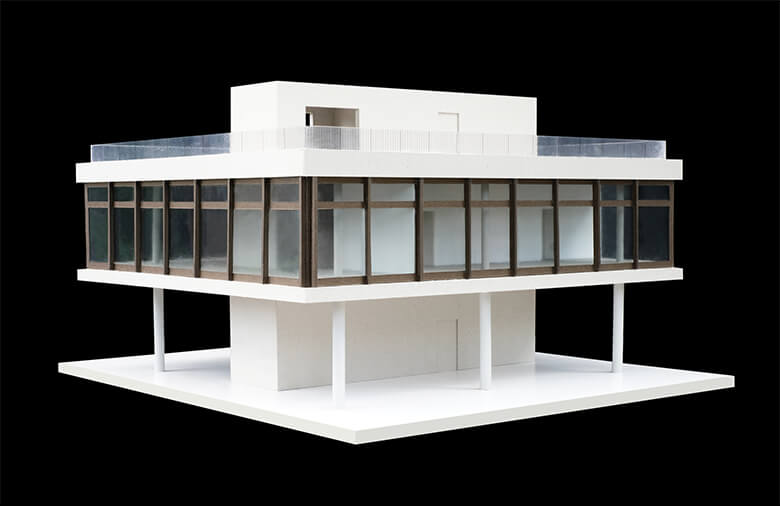 Haus an der Spree, Modell Eckansicht