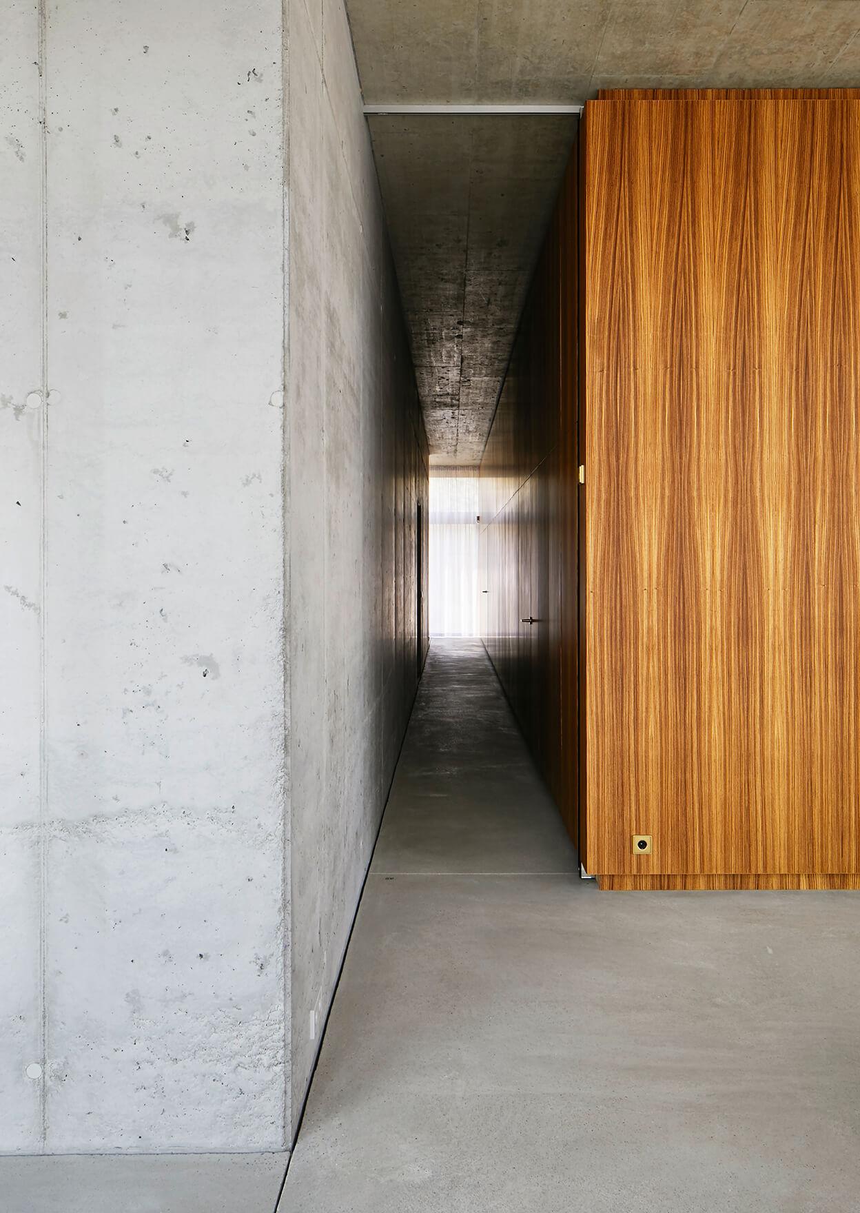 House on the Spree, zebrano cupboard unit